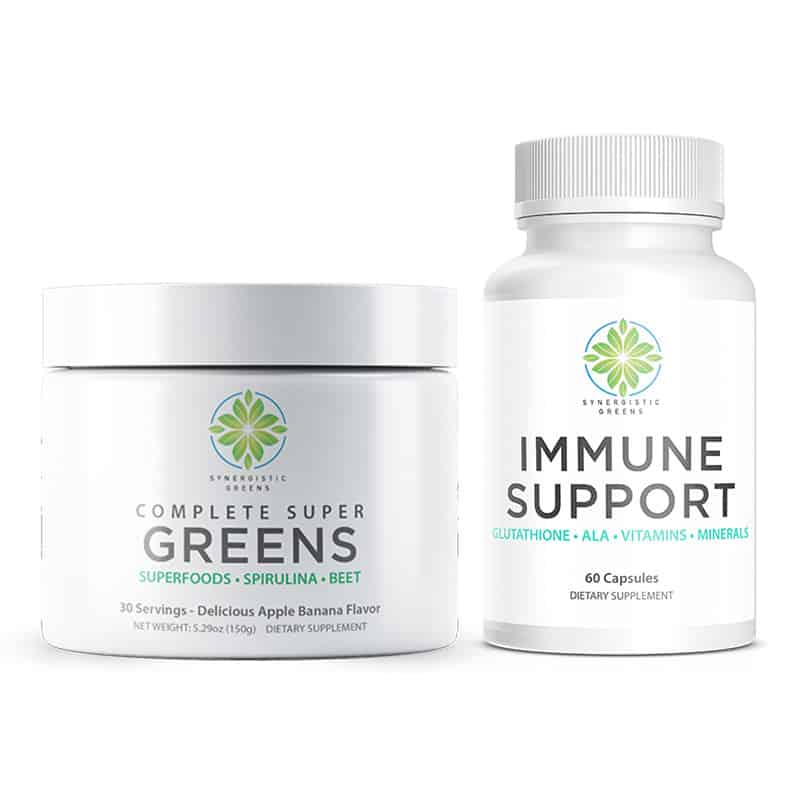 Complete Super Greens and Immune Support Package